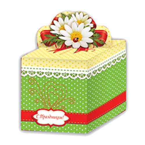 292, Коробка 0,4кг 110х110х120 Ромашка (100), 27060216, 14 560  руб., 27060216, FIESTA, Подарочная упаковка