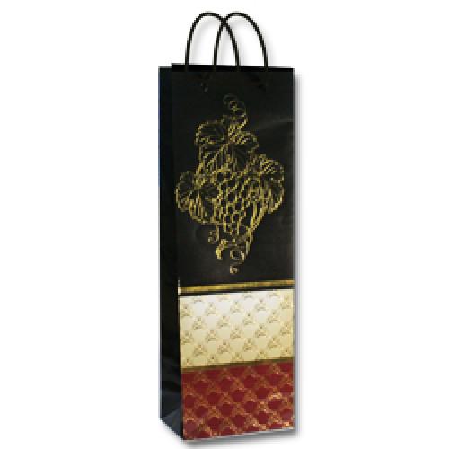 """4, Пакет бумажный ламинированый  B (12,3х7,8х36,2) """"Лоза"""" ТИСН, 4070330, 25  руб., 4070330, EXTRA, Подарочная упаковка"""