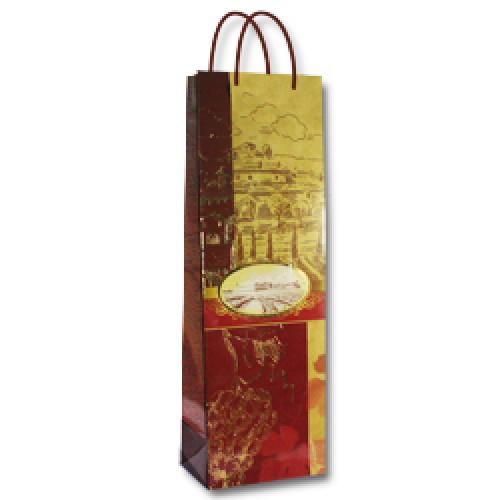 "3, Пакет бумажный ламинированый  B (12,3х7,8х36,2) ""Бордо"" ТИСН, 4070332, 25  руб., 4070332, EXTRA, Подарочная упаковка"