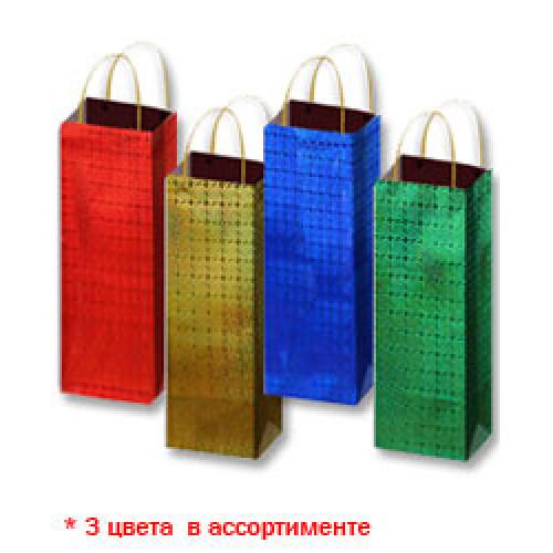 5, Пакет бумажный ламинированый  B (12,3х7,8х36,2) Голография (3 цв), 4070421, 19  руб., 4070421, EXTRA, Подарочная упаковка