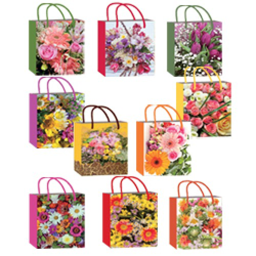 2, Пакет бумажный ламинированый S (14х7х20)  Микс Цветы (10 диз), 4070440, 16  руб., 4070440, EXTRA, Подарочная упаковка