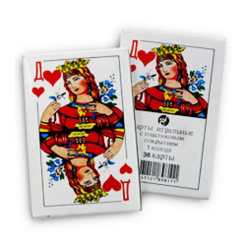 242, Карты игральные (36 листов), 12100001, 13  руб., 12100001, Интерепак, Реквизит для конкурсов