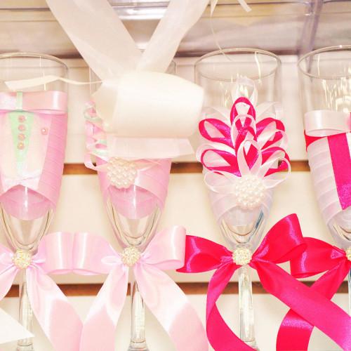 434, Бокалы на первый стол молодоженам / розовые, sev130983, 900  руб., sev130983, SuperLink,