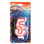 "341, Свеча для торта  двусторон. ""Цифра 5"",1шт/уп, 27010553, 23  руб., 27010553, FIESTA, Свечи для торта"